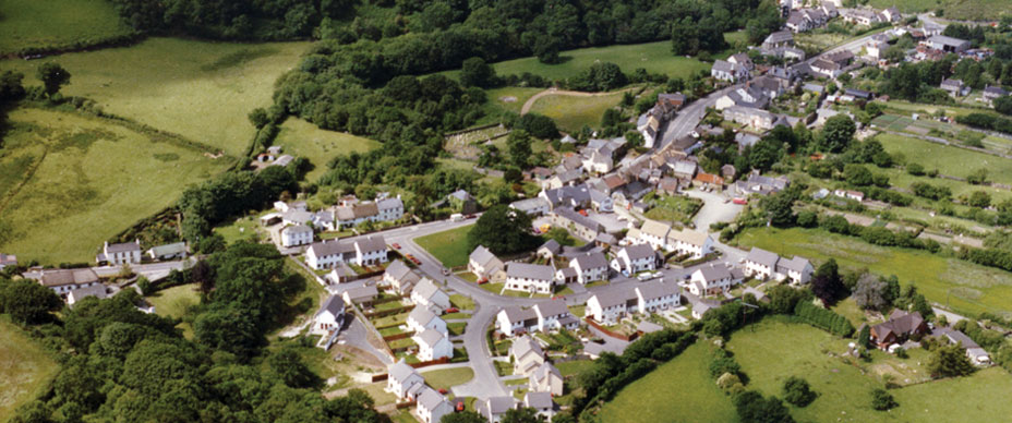 Sticklepath Village - Aerial Photo
