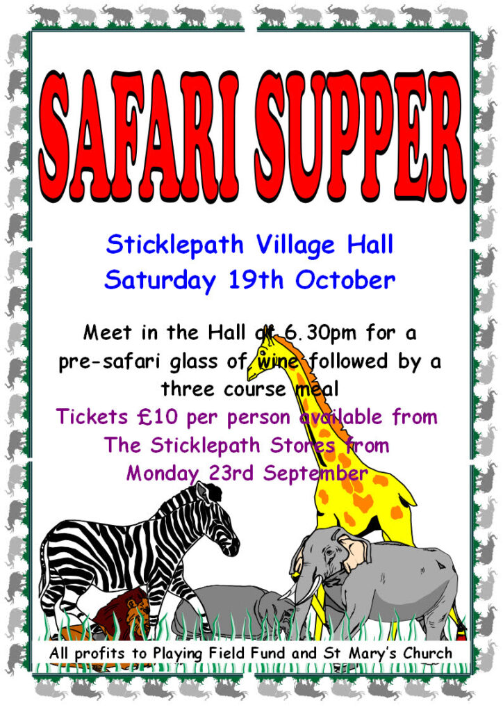 Safari Supper Poster 2013