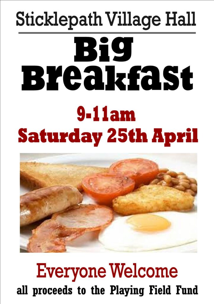 Sticklepath Village Hall - Big Breakfast