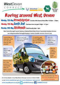 Connect service takes to the road - Drewsteignton, South Zeal & Sticklepath